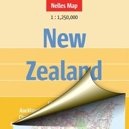 New Zealand. Tourist map.
