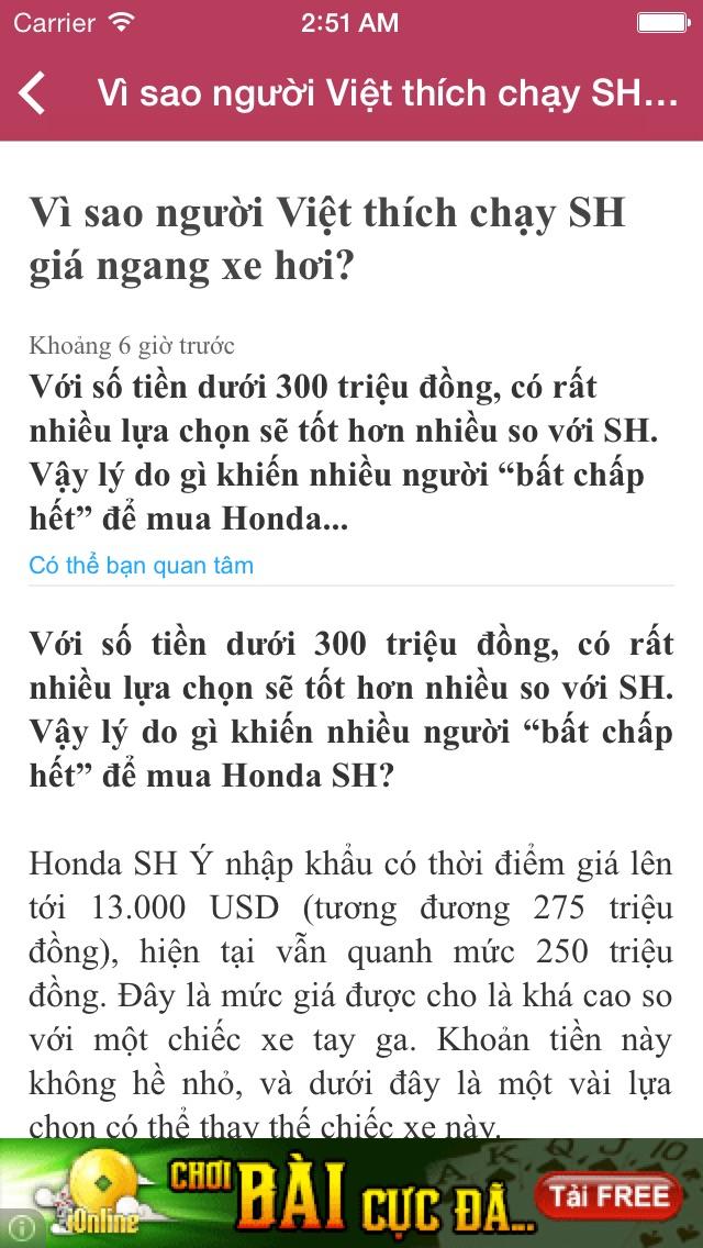 Việt Báo Screenshot on iOS