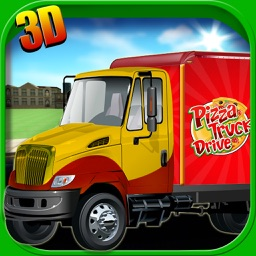 Pizza Truck Driver 3D - Fast Food Delivery Simulator Game on Real City Roads
