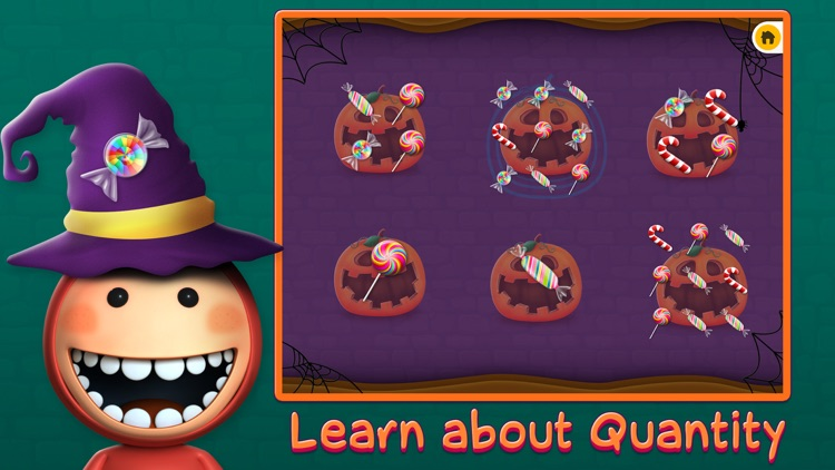 Candy Count Quantity Matching Learning Game For Kids In Preschool
