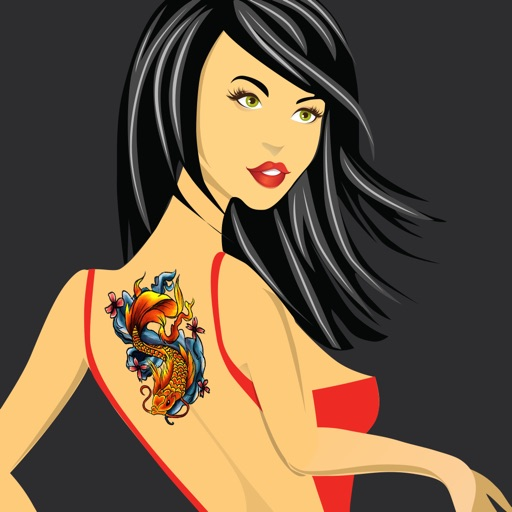 MyTattoo - The Tattoo Designs Salon App & Virtual Photo Booth Machine to Tattooed yourself with Dragon Tribal Tattoos without Pain for free! icon