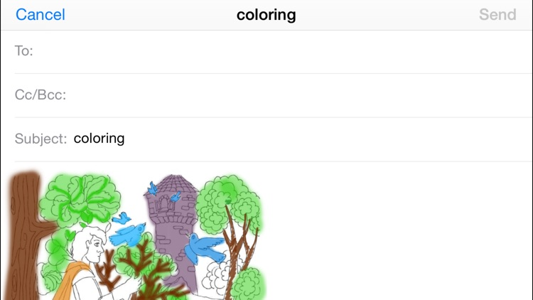Rapunzel. Coloring book for children. screenshot-3