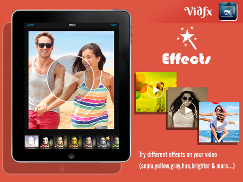 VidFx FREE-Add Video Effects by using Overlays and also add