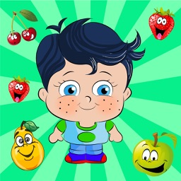 Learn French with Little Genius - Matching Game - Fruits