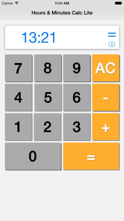 Hours & Minutes Calculator Lite screenshot-3