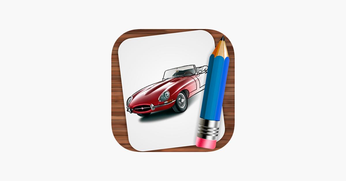 Retro Arabalar çizim App Storeda