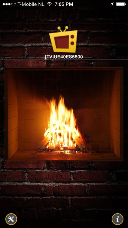 Samsung TV Fireplace