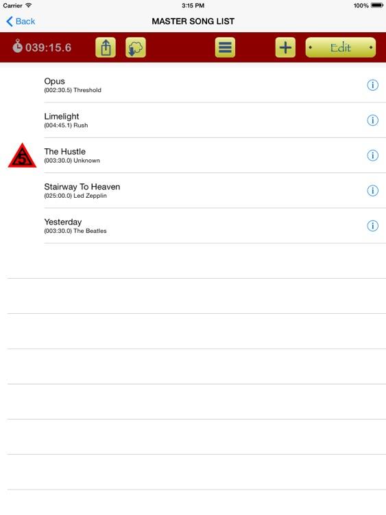 Master Set List screenshot-3