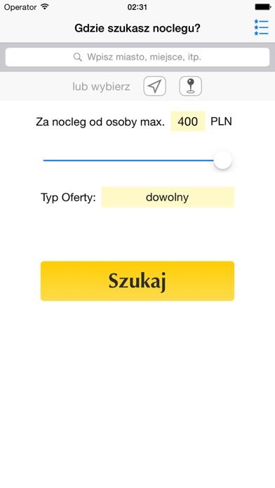 Noclegi, Hotele w Polsce screenshot one