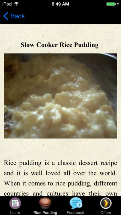 Rice Pudding Recipes - Dessert