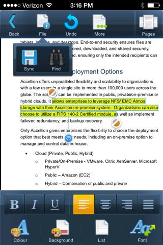 Accellion Mobile App for Good Technology screenshot 3