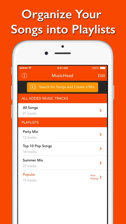 MusicHead - free unlimited music streamer, mp3 player and playlist manager