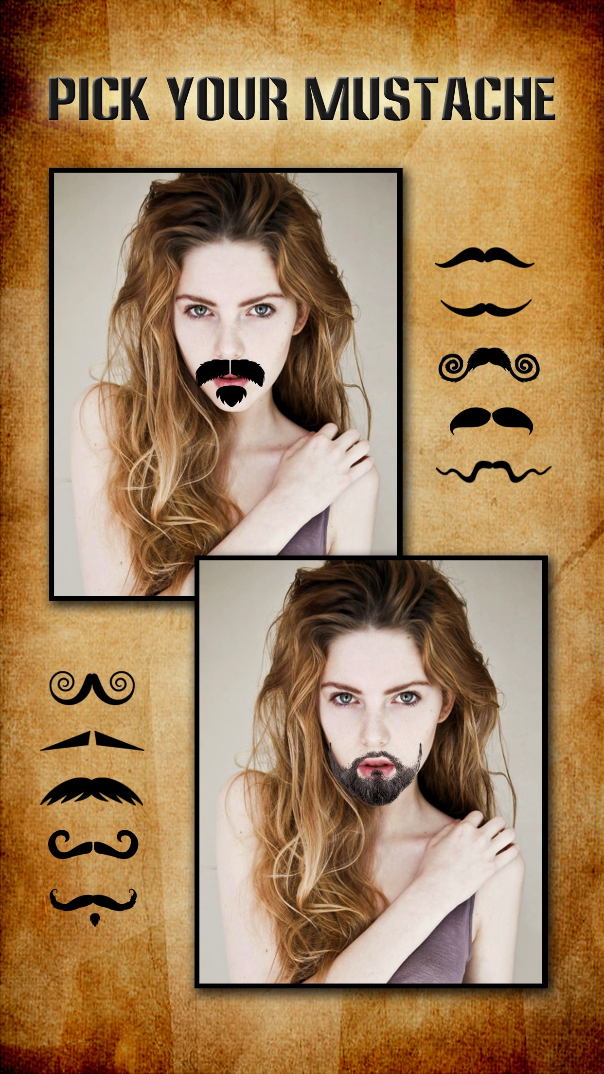 Mustache Booth FREE - Grow & Morph a Hilarious Beard Sticker on Yr Face Screenshot