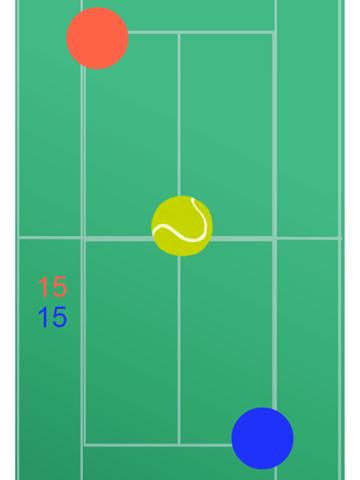 二人でできるゲーム 二人テニス(無料版)のおすすめ画像2