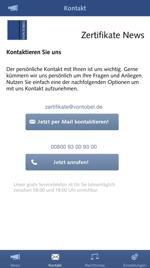 Vontobel Zertifikate News on the App Store