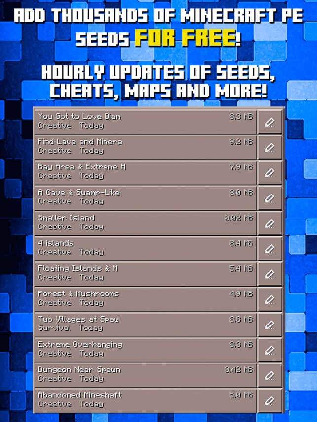 Seeds For Minecraft PE Free Seeds Pocket Edition On The App Store - Minecraft haus bauen cheat