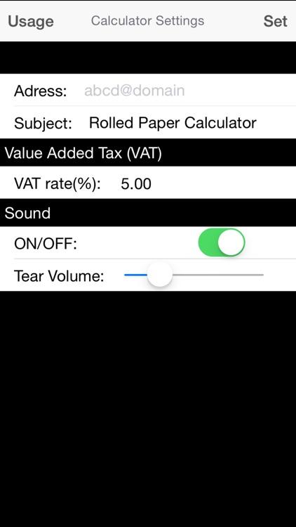 Rolled Paper Calculator PRO screenshot-4