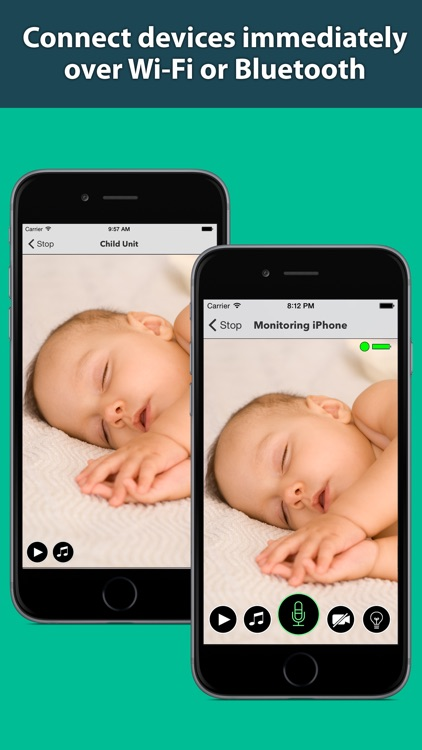 Secure Baby Monitor - Safe Wifi & Bluetooth Video Nanny Camera