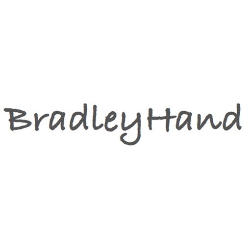 Keyboard of Bradley Hand Font: Artistic Style Keys for iOS 8
