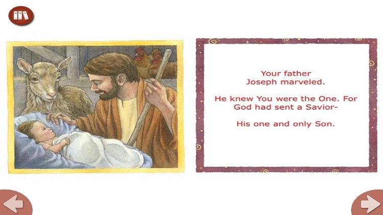 Happy Birthday Jesus - Read along interactive Christmas eBook in English for children with puzzles and learning games screenshot-3