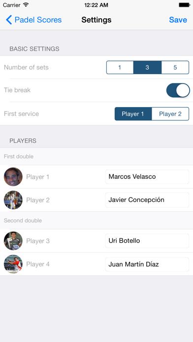 Padel Scores screenshot two