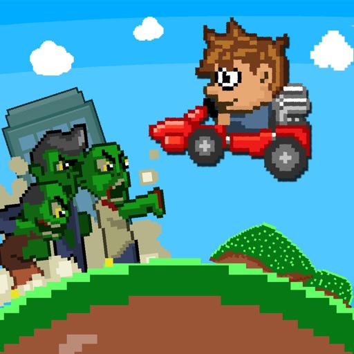 ` Angry Zombie Go Kart Road Race Free - Jumpy 8 Bit Pixel Edition by Top Crazy Games