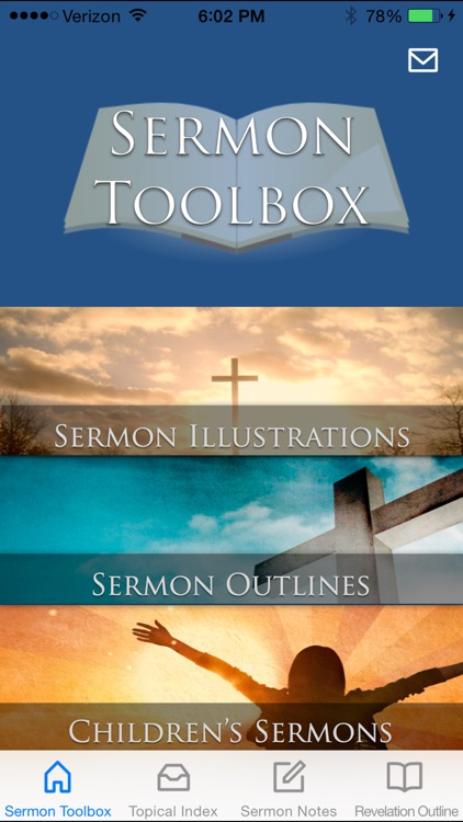 Sermon Toolbox - Illustrations, Outlines, Topical Index, and more tools for writing sermons