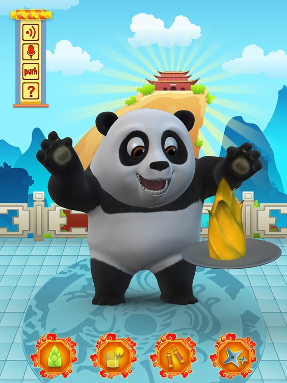 Talking Bruce the Panda for iPad screenshot-1