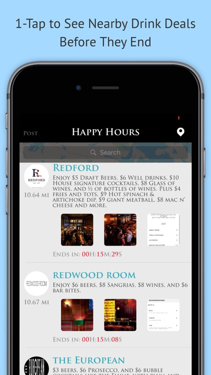 Drinkers - Happy hours, Hottest bars, Near you