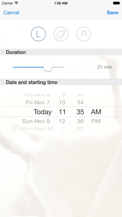 Ammapp - The simple nursing timer