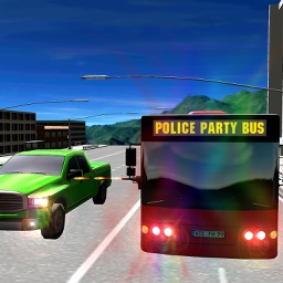Police Party Bus Racing Simulator 3D