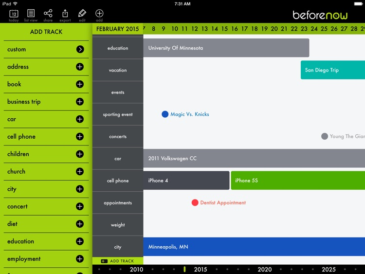 BeforeNow - Personal Timeline Creator and Journal screenshot-2