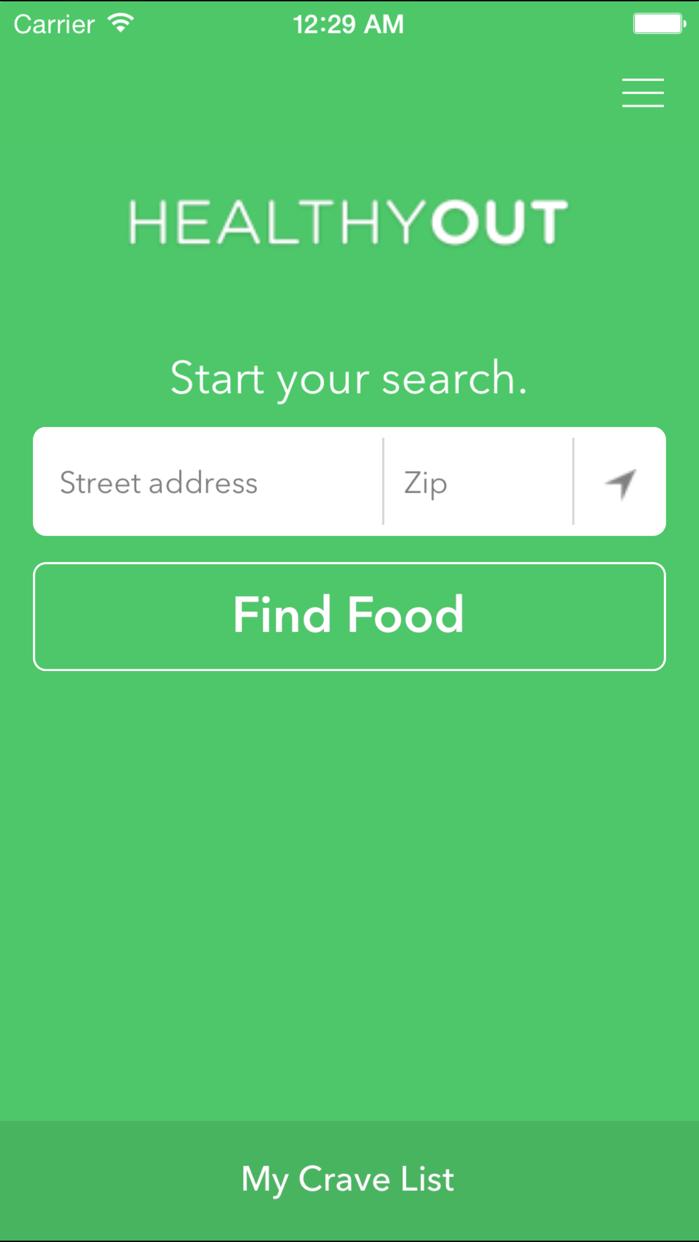 HealthyOut - Healthy Restaurant Nutrition Guide Screenshot
