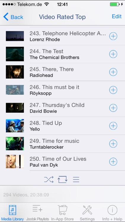 Joobik Player - iTunes Video Playlists on iPhone and iPad