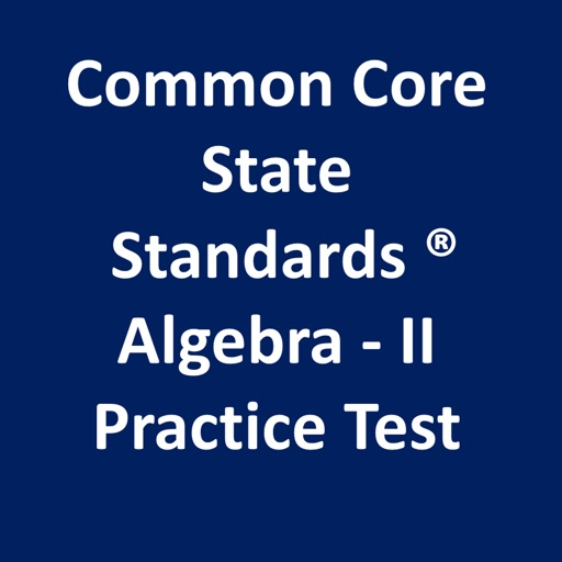 Common Core Math Algebra-II Practice Test iOS App