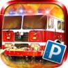 3D Fire Truck Parking - City Firetruck Driver Sirens Simulator Games