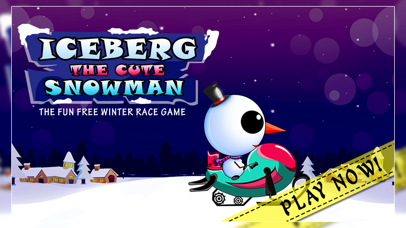Iceberg the Cute Snow Man : The Fun Free Winter Race Game - Free Edition screenshot one