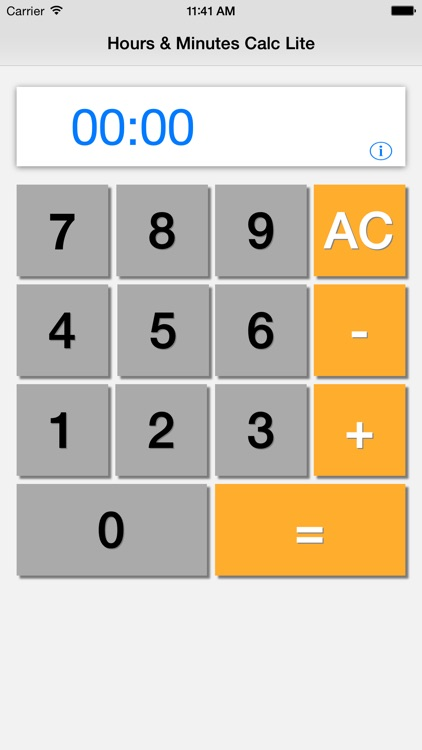 Hours & Minutes Calculator Lite