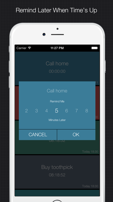 XReminder - simple & quick reminder to set alarm for important things screenshot