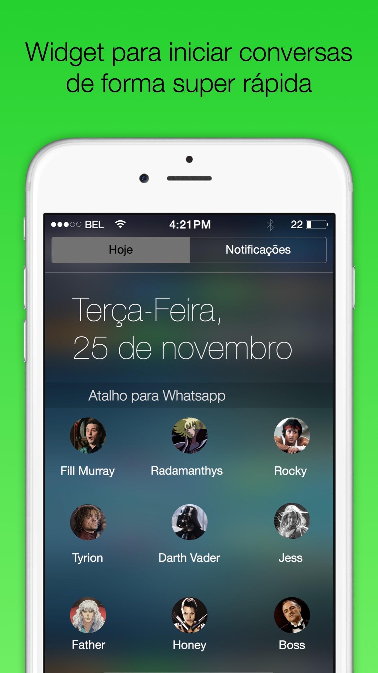 Screenshot do app Atalho para WA Plus - Widget para iniciar conversas com seus amigos