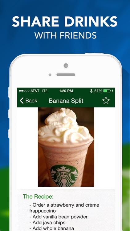Secret Menu for Starbucks Pro - Coffee, Frappuccino, Tea, Hot, and Cold Drinks Recipes