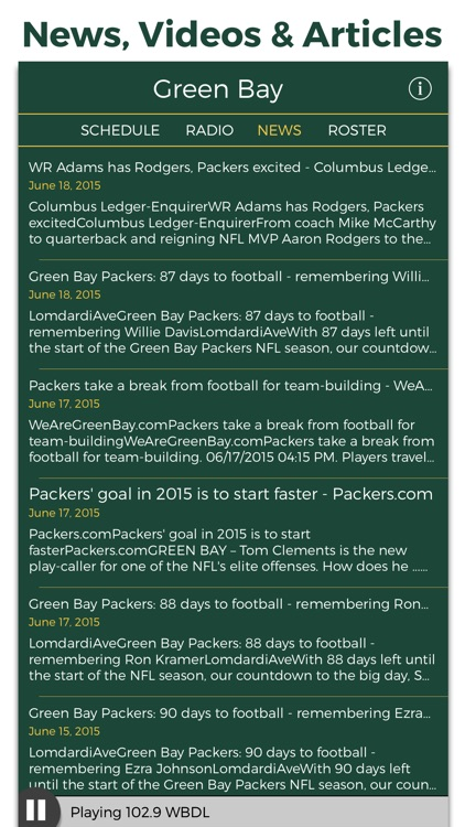 Green Bay Football Radio & Live Scores screenshot-4