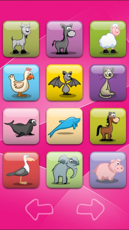 Animal Sound Board - Interactive Flash Cards