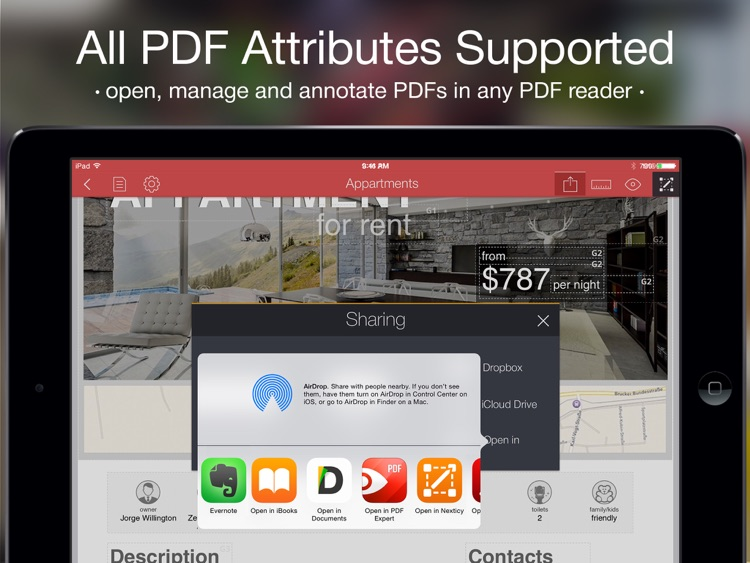 PDF Creator - professional PDF documents, invoices, postcards, resume screenshot-3