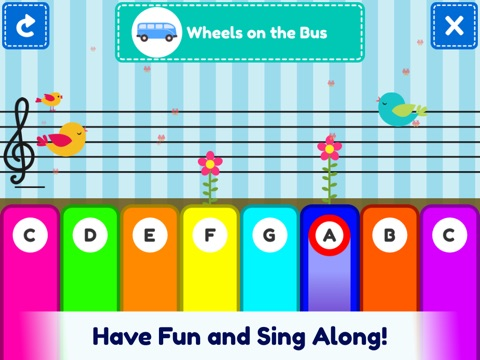 Screenshot 4 For First Piano Nursery Rhymes Play Along Keyboard