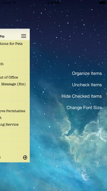 Essential Travel Checklist screenshot-3