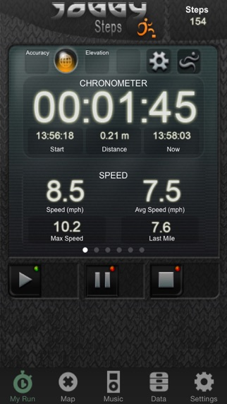 Joggy Steps - Pedometer Stopwatch Running / Walking / Hiking / Joggingのおすすめ画像1