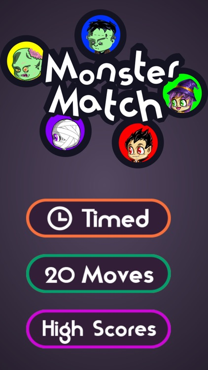 Halloween Monster Match: a Spooky Game of Color Connecting