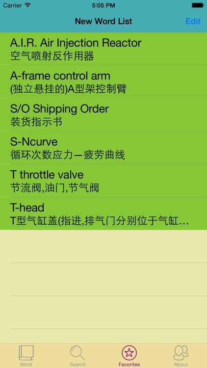 汽车专业英汉汉英词典-5万离线词汇可发音 screenshot-3