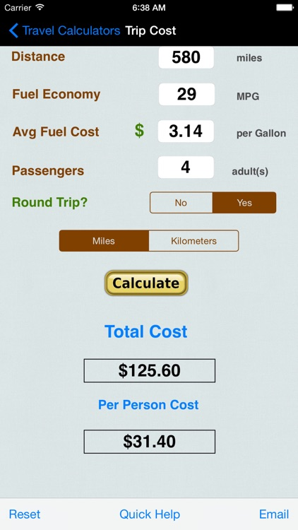 Automobile Trip Calculators & Converters
